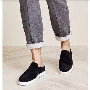 VINCE | verrell slip on mule sneaker black suede